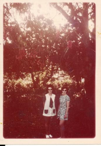 Sisters Helen Cornish and Bev Melrose (Ringuet) Botanical Gardens Lae 1972_Bev Melrose.jpg